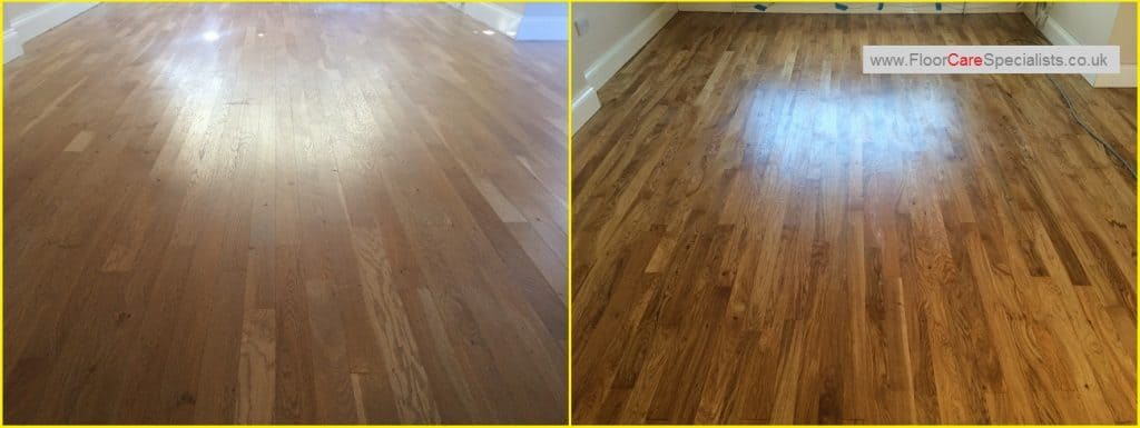 Oak Floor Sanding and Oil Sealed - www.FloorCarespecialists.co.uk