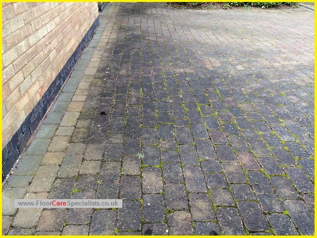 Block Paved Drive Clean in Leicester - www.FloorCareSpecialists.co.uk