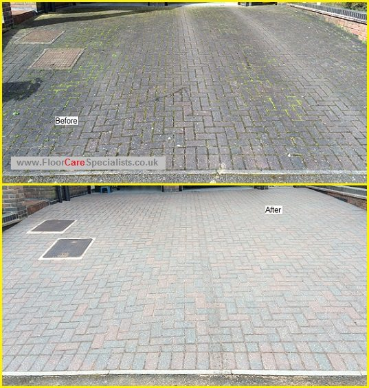 Block Paved Drive Cleaning in Leicester - www.FloorCareSpecialists.co.uk