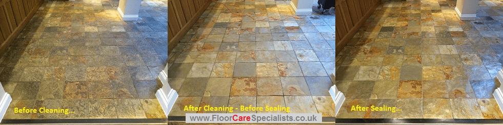 Slate Floor Cleaner Leicester - www.FloorCareSpecialists.co.uk