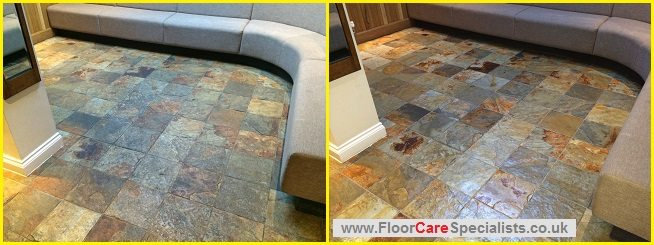 Slate Floor Cleaning Leicester - www.FloorCareSpecialists.co.uk