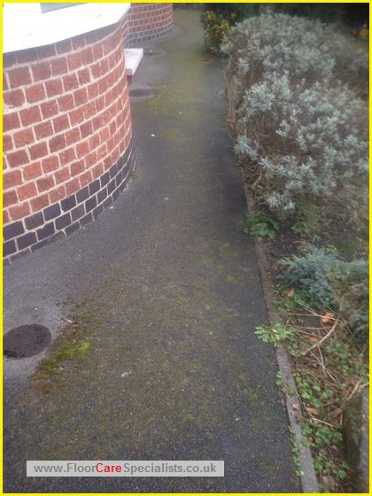 Tarmac and patio cleaning in leicester - www.FloorCareSpecialists.co.uk