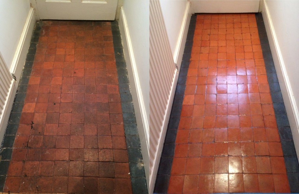 Victorian Clay Tile Cleaning And Sealing In Nottingham Baileys