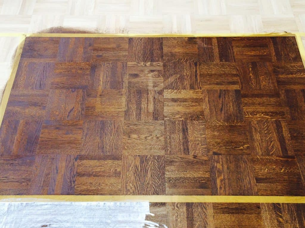 after of wood floor sanding and restoration