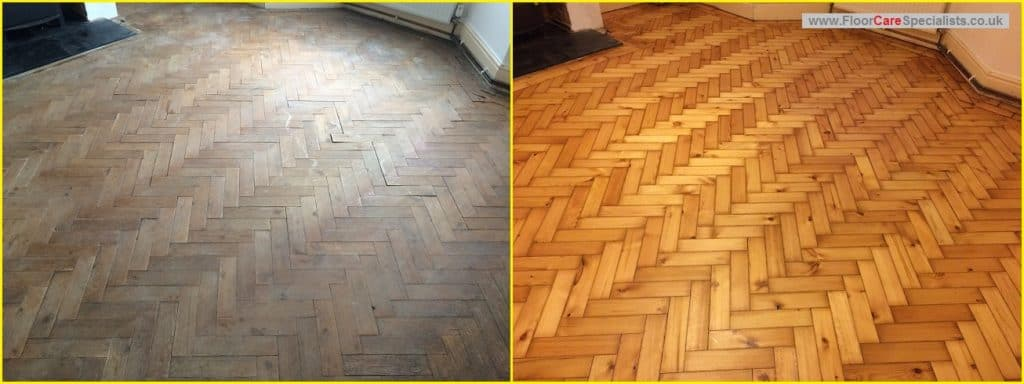 Pitch Pine Wood Floor Restoration - www.FloorCareSpecialists.co.uk