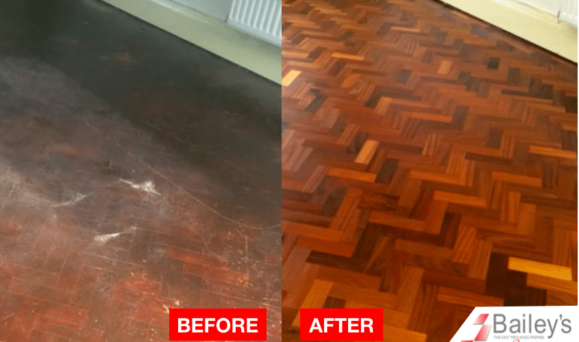 wood floor sanding in derby by baileys